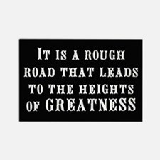 """Road to Greatness"" Rectangle Magnet"