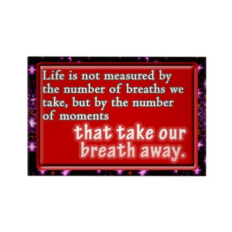 """""""The Measure of Life"""" Rectangle Magnet"""