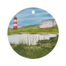 Assateaque Light Ornament (Round)
