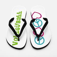 PEACE LOVE Volleyball Flip Flops