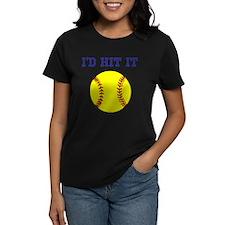 I'd Hit it softball Tee