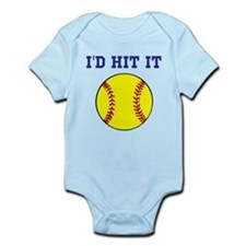 I'd Hit it softball Onesie