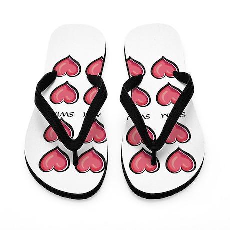 Heart Series Swim Flip Flops