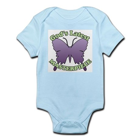 God's Latest Masterpiece Butterfly Infant Creeper
