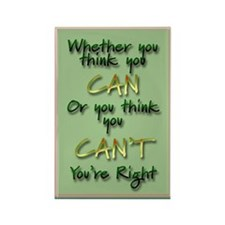 """""""Think You Can"""" Rectangle Magnet"""