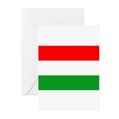Hungary Flag Greeting Cards (Pk of 20)