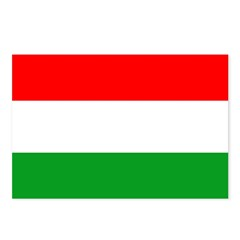 Hungary Flag Postcards (Package of 8)