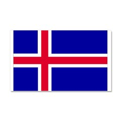 Iceland Flag Car Magnet 20 x 12