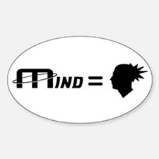 Funny The thoughts in my mind Decal
