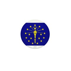 Indiana Flag Mini Button (10 pack)
