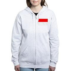 Indonesia Flag Zip Hoodie