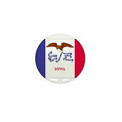 Iowa Flag Mini Button