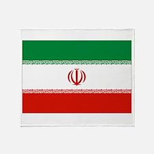 Iran Flag Throw Blanket