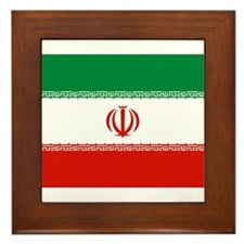 Iran Flag Framed Tile