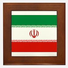 Iran Flag Framed Tile