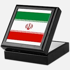 Iran Flag Keepsake Box