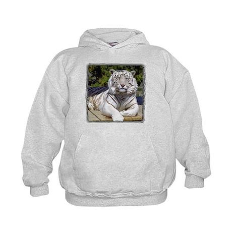 White Tiger 9 Kids Hoodie