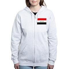 Iraq Flag Zip Hoodie