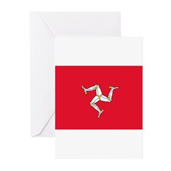 Isle of Man Flag Greeting Cards (Pk of 20)