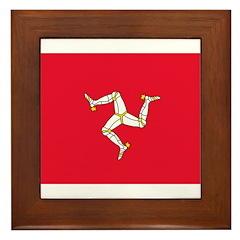 Isle of Man Flag Framed Tile