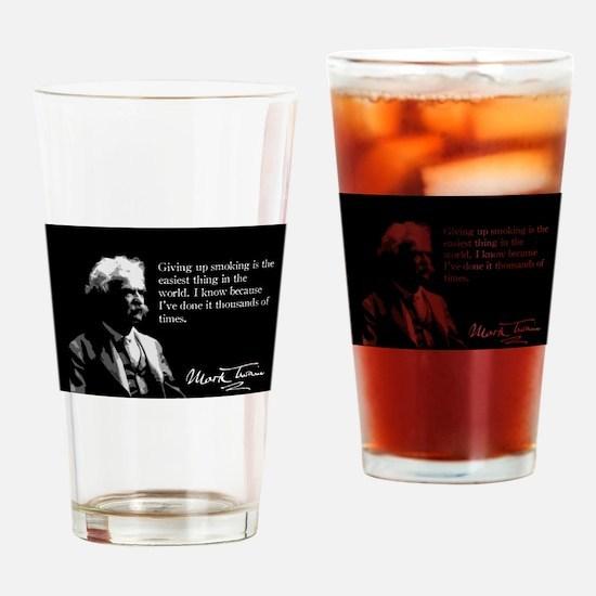 Mark Twain, Quit Smoking, It's Easy, Drinking Glas