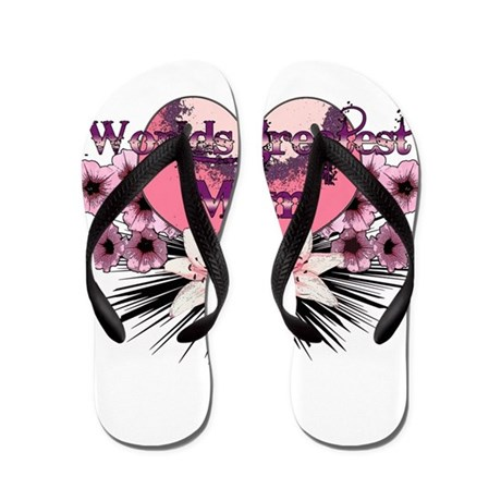 Worlds greatest mom Flip Flops
