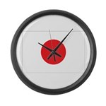 Japan Flag Large Wall Clock
