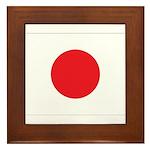 Japan Flag Framed Tile