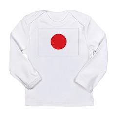 Japan Flag Long Sleeve Infant T-Shirt