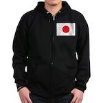 Japan Flag Zip Hoodie (dark)