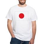 Japan Flag White T-Shirt