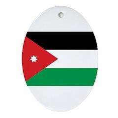 Jordan Flag Ornament (Oval)