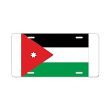Jordan Flag Aluminum License Plate