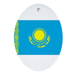 Kazakhstan Flag Ornament (Oval)