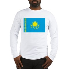 Kazakhstan Flag Long Sleeve T-Shirt