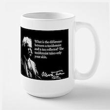 Mark Twain, Tax Collector Joke, Large Mug
