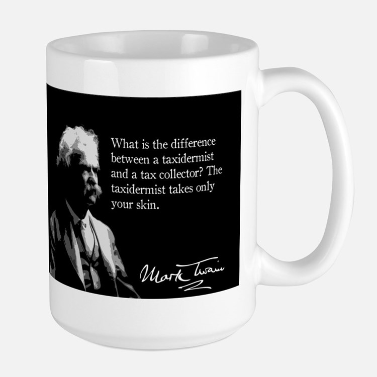 Mark Twain, Tax Collector Joke, Mug