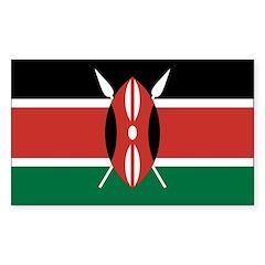 Kenya Flag Sticker (Rectangle 10 pk)