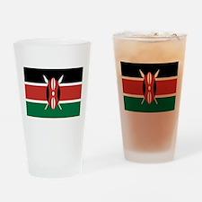 Kenya Flag Drinking Glass