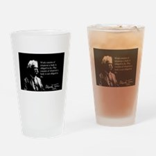 Mark Twain, Work and Play, Drinking Glass