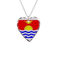 Kiribati Flag Necklace