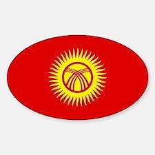 Kyrgyzstan Flag Sticker (Oval)