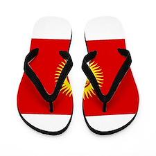 Kyrgyzstan Flag Flip Flops
