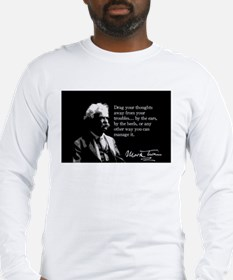 Mark Twain, Drag Your Thoughts Away, Long Sleeve T