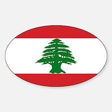 Lebanon Flag Sticker (Oval)