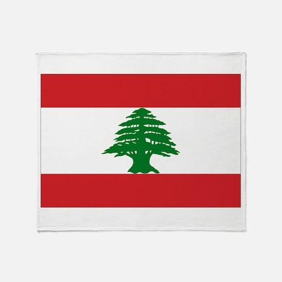 Lebanon Flag Throw Blanket