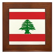 Lebanon Flag Framed Tile