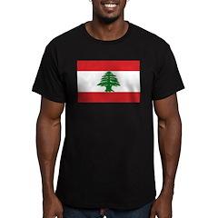 Lebanon Flag Men's Fitted T-Shirt (dark)