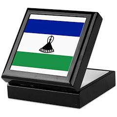 Lesotho Flag Keepsake Box