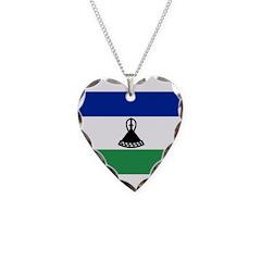 Lesotho Flag Necklace
